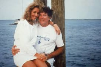 Gary Hart and Donna Rice in Bimini, April 1987. Photo by Lynn Armandt