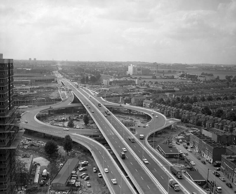 The Westway under construction in the 1970s