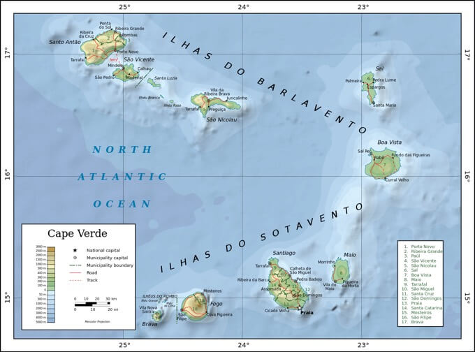 CoW-Nightingale of cape verde map