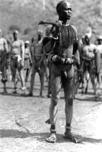 Nuba wrestler, 1927 Photo by Hugo A. Bernatzik