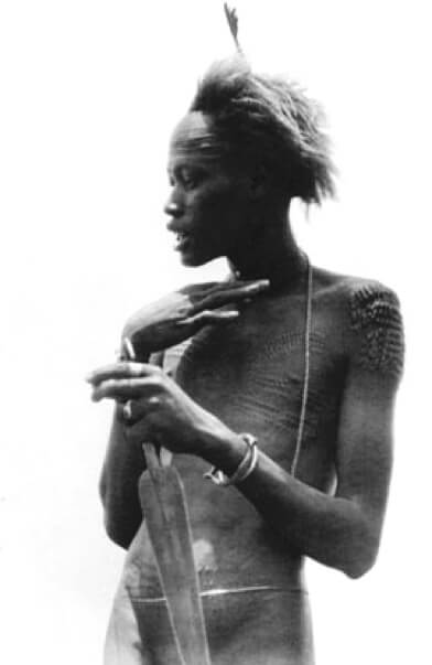Nuer youth c 1927 Hugo A. Bernatzik