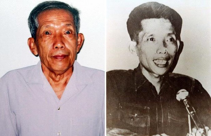 Kek Iew Kang, aka Comrade Duch, in the 2000s and in the 1970s