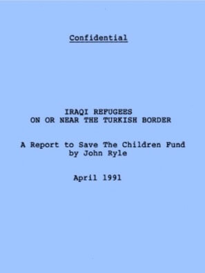 Research - Report to Save The Children Fund, 1991