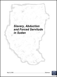 Slavery, abduction and forced servitude in Sudan- Report of the Eminent Persons Group, 2002-1